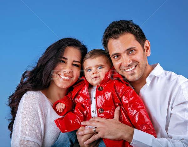 Сток-фото: счастливым · молодые · семьи · арабский · Blue · Sky