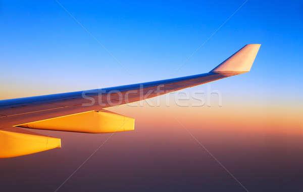Aereo ali tramonto luce luminoso arancione Foto d'archivio © Anna_Om