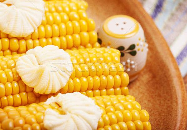 Tasty boiled corncob Stock photo © Anna_Om