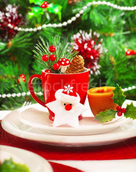 Stock photo: Luxury festive table setting