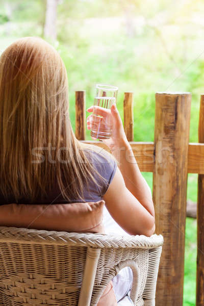 Calm woman relaxing outdoors Stock photo © Anna_Om