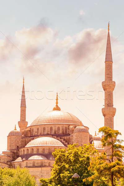 Kék mecset Isztambul híres vallásos tájékozódási pont Stock fotó © Anna_Om