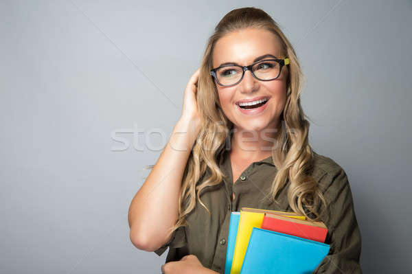 Cute student girl Stock photo © Anna_Om