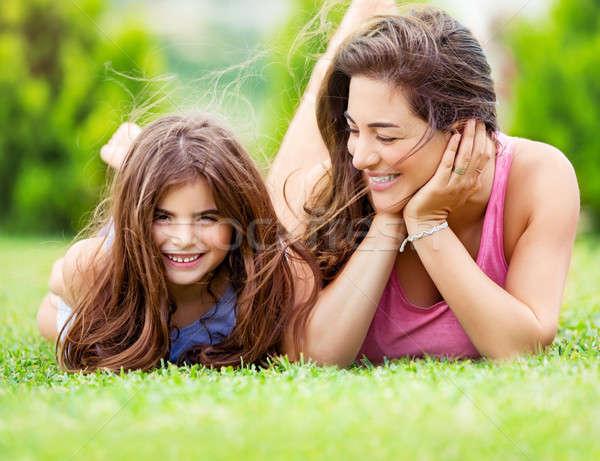 Stok fotoğraf: Mutlu · anne · kız · sevimli · küçük