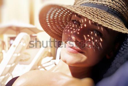 Pretty woman on the beach Stock photo © Anna_Om