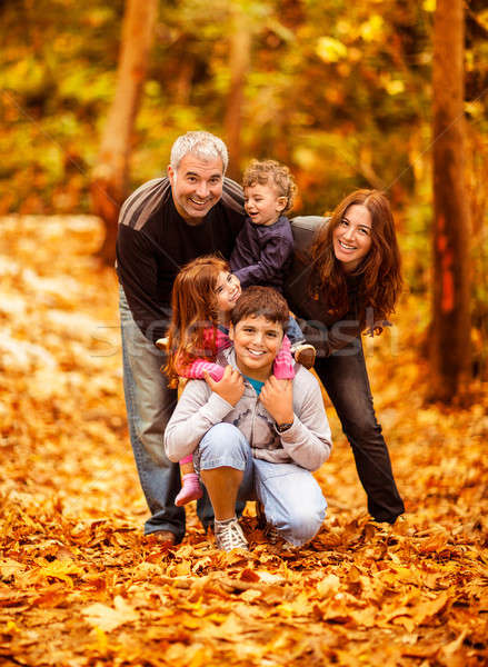 Stock photo: Lovely family in park