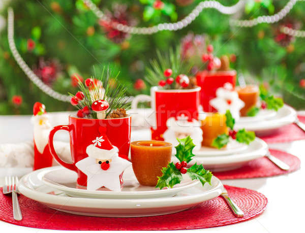 Christmas dinner decoration Stock photo © Anna_Om