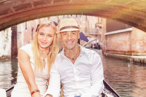 Happy couple in Venice Stock photo © Anna_Om