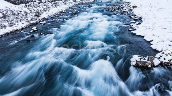 Drifting river in Iceland Stock photo © Anna_Om