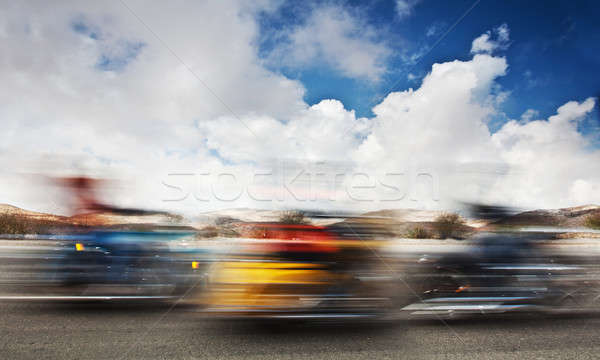 Slow motion on motorbikes Stock photo © Anna_Om