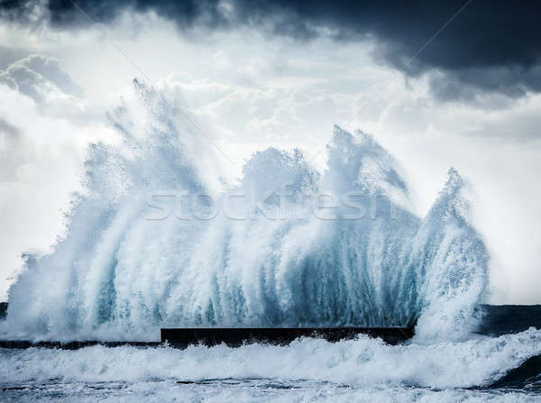 Stock photo: Giant waves