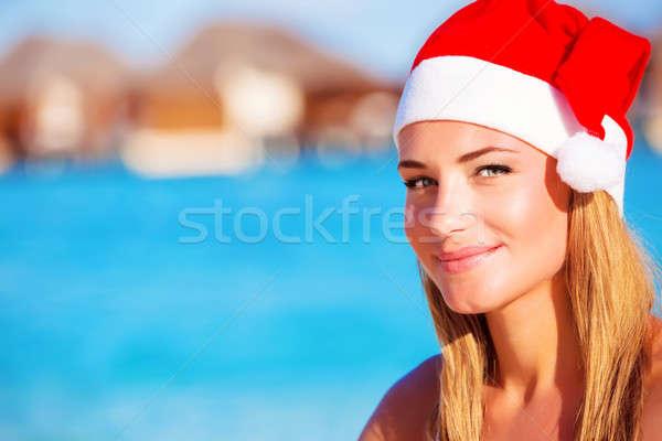 Noel kutlama Maldivler portre sevimli Stok fotoğraf © Anna_Om