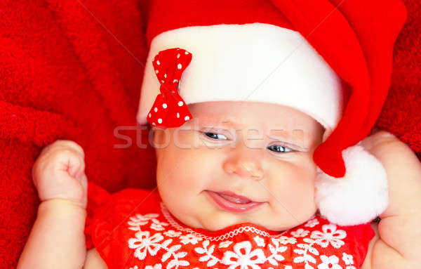 Sweet newborn baby on Christmastime Stock photo © Anna_Om