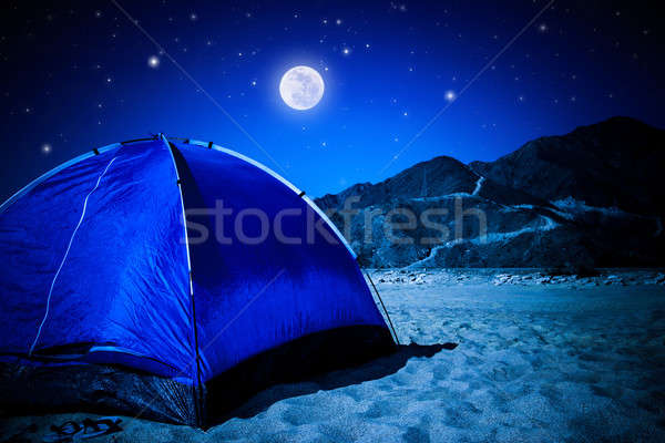 Camp tent on the beach at night Stock photo © Anna_Om