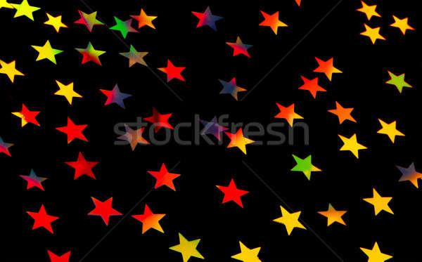 ünnepi csillagos sok kicsi színes csillagok Stock fotó © Anna_Om