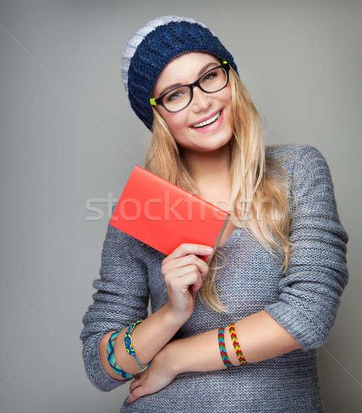 Happy student portrait Stock photo © Anna_Om