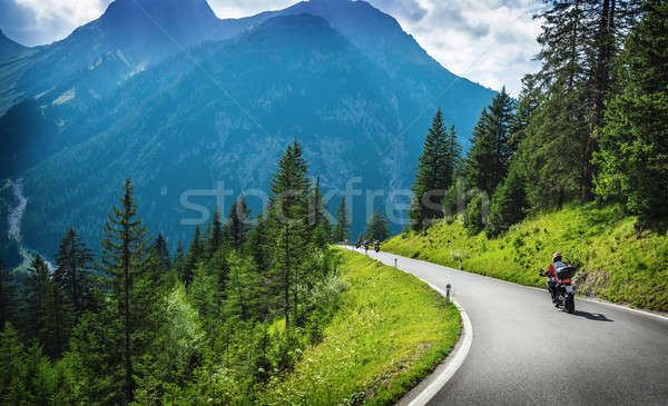 Motorcyclists in mountainous touring Stock photo © Anna_Om