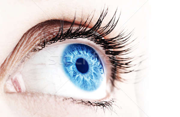 Abstract blue eye Stock photo © Anna_Om