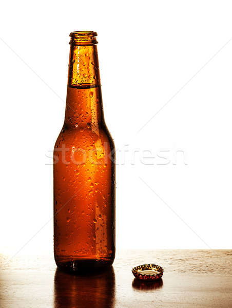 Open beer bottle Stock photo © Anna_Om