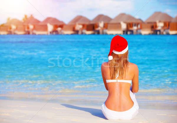 Новый год празднования Мальдивы путешествия зима праздников Сток-фото © Anna_Om