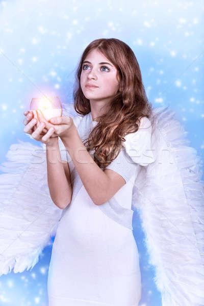 Christmas wish of an angel Stock photo © Anna_Om
