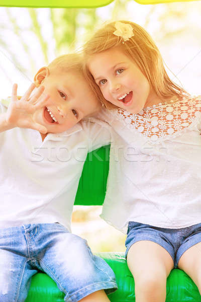 Adorable children having fun Stock photo © Anna_Om