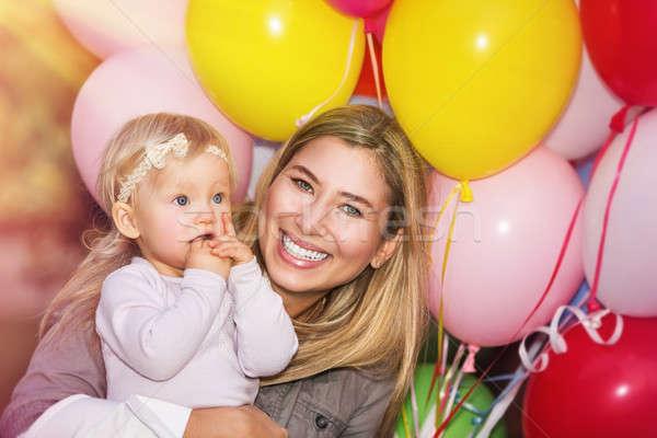 Festa di compleanno piccolo bambino madre Foto d'archivio © Anna_Om