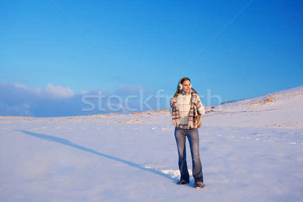 Active woman in the mountains Stock photo © Anna_Om