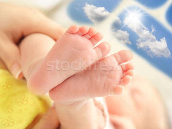 Baby feet Stock photo © Anna_Om