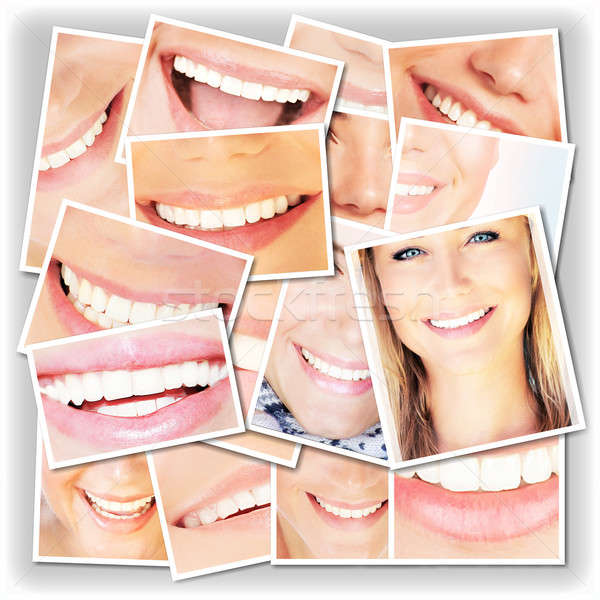 Smiling faces collage Stock photo © Anna_Om