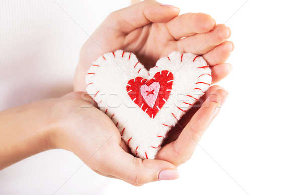 Heart in hands Stock photo © Anna_Om