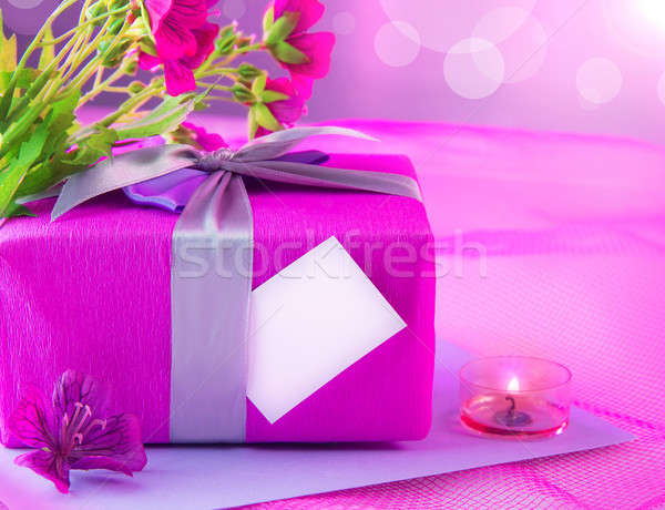 Pink giftbox for mother Stock photo © Anna_Om
