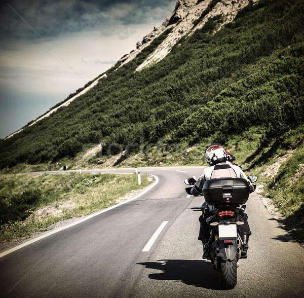 Autostrada equitazione alpino montagna viaggio Foto d'archivio © Anna_Om