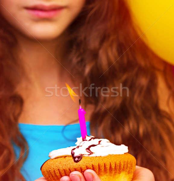 Zdjęcia stock: Urodziny · dziewczyna · ręce