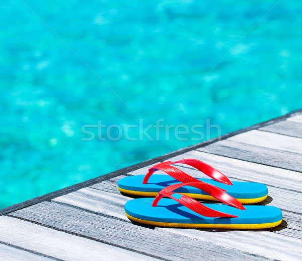 Wakacje plaży wody ocean niebieski podróży Zdjęcia stock © Anna_Om