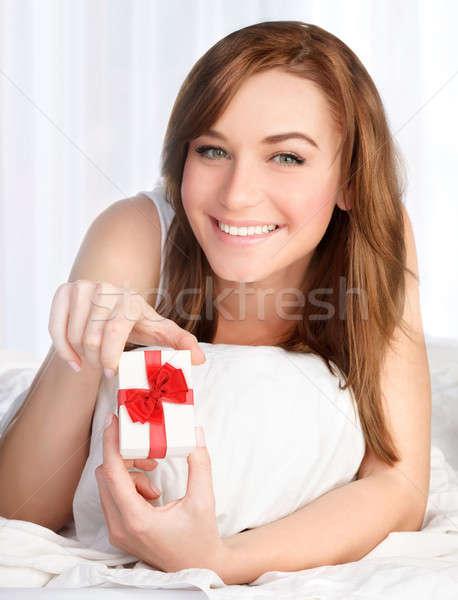 Сток-фото: счастливым · Валентин · день · портрет · красивая · женщина