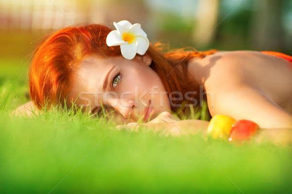 Calm girl enjoying day spa  Stock photo © Anna_Om