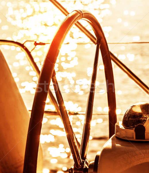 Sailboat helm  Stock photo © Anna_Om