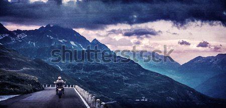 Grunge textured landscape Stock photo © Anna_Om