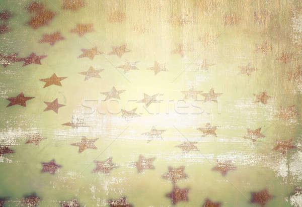 Grunge csillagos stílus fotó gyönyörű klasszikus Stock fotó © Anna_Om