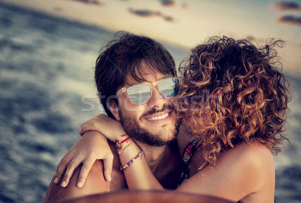Happy lovers sailing Stock photo © Anna_Om