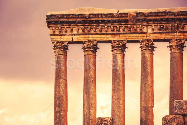 Templom Libanon antik római építészet romok Stock fotó © Anna_Om