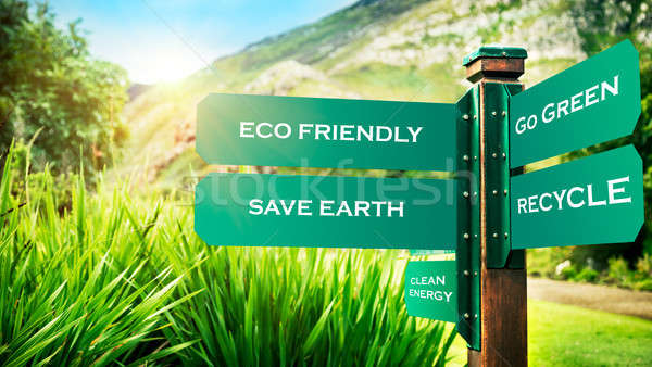 Conceptual photo of a saving earth Stock photo © Anna_Om