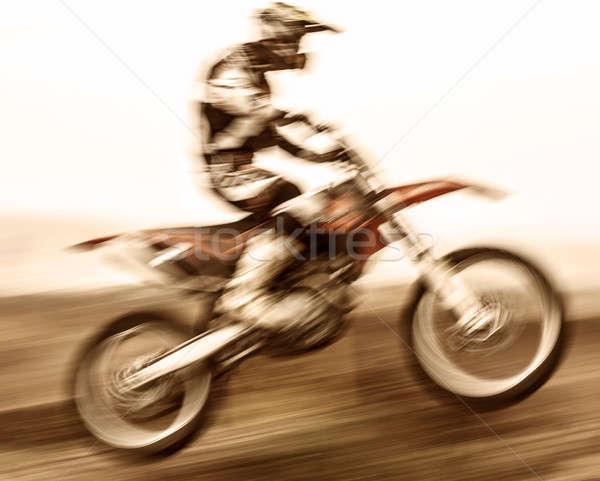 Экстрим замедлять движения мотоцикле гонка драйвера Сток-фото © Anna_Om