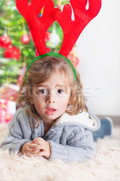 Little boy on Christmas celebration Stock photo © Anna_Om
