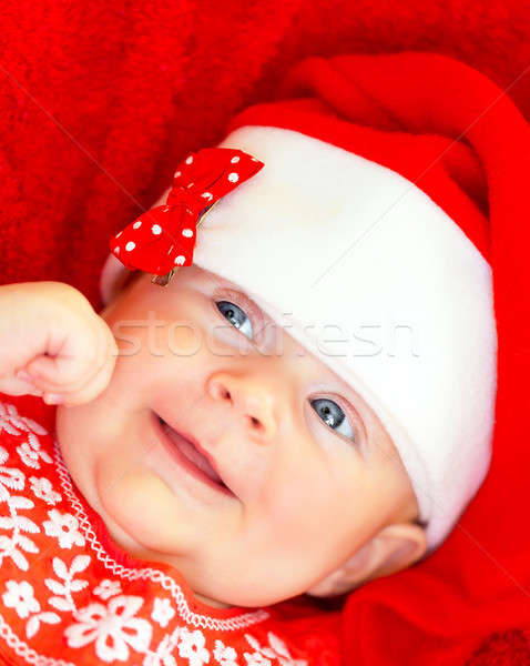 Newborn girl on Christmastime Stock photo © Anna_Om