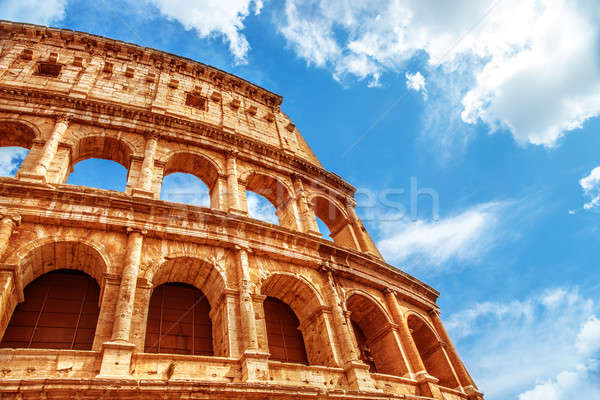 Coliseo Italia antigua romana arquitectura Foto stock © Anna_Om