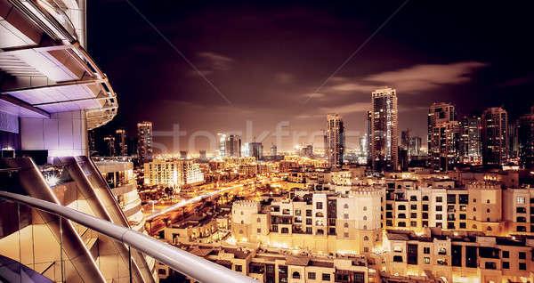 Bella notte cityscape Dubai Emirati Arabi Uniti moderno Foto d'archivio © Anna_Om