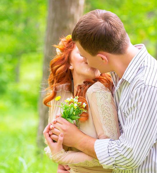 Loving couple outdoors Stock photo © Anna_Om
