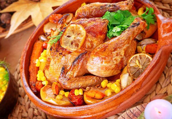 ízletes sült Törökország közelkép fotó ünnepi Stock fotó © Anna_Om